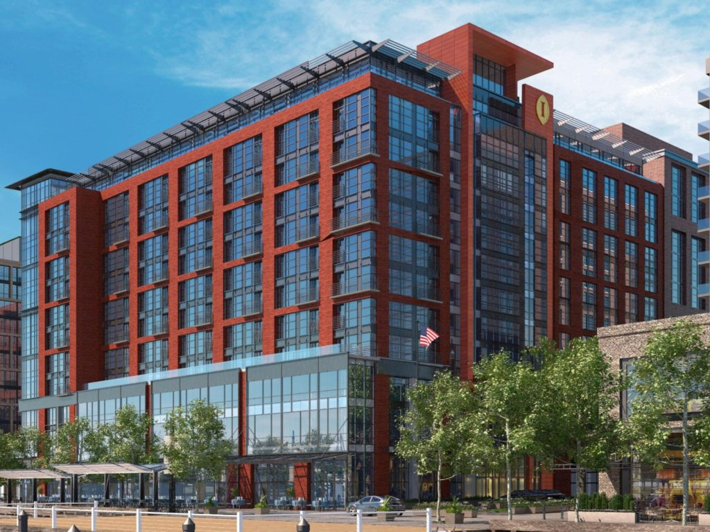 Exterior of the Intercontinental Washington DC Wharf hotel - one of our recommended hotels for visitors deciding where to stay in Washington DC.
