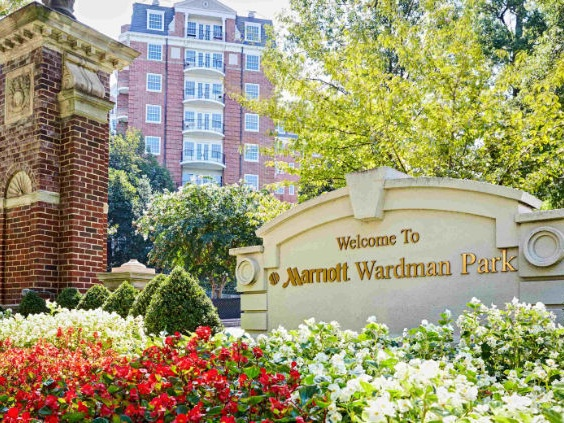 Exterior of the Marriott Wardman Park Washington DC hotel - one of our recommended hotels for visitors deciding where to stay in Washington DC.