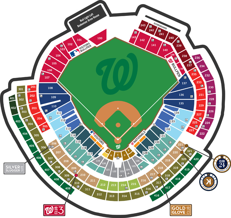 Where To Find Shaded Seats At Nationals Park April 14