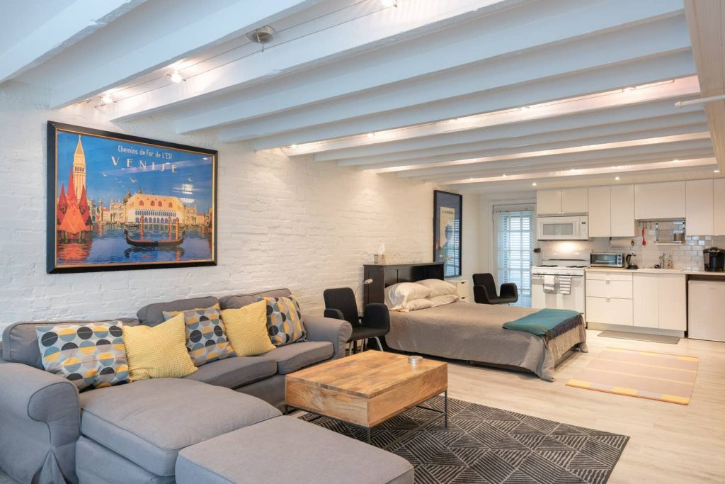 This is a Washington, DC Airbnb rental on Capitol Hill. It's a small basement studio near the Capitol, Library of Congress and Supreme court.