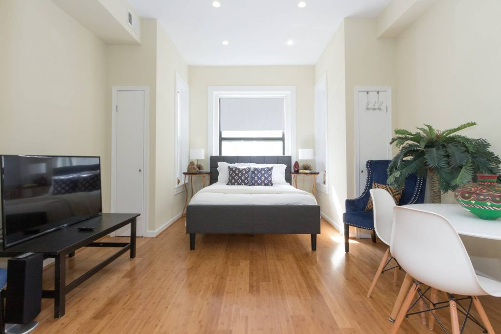 This is a Washington, DC Airbnb rental in the Adams Morgan neighborhood. Stay here if you want to be close to nightlife.