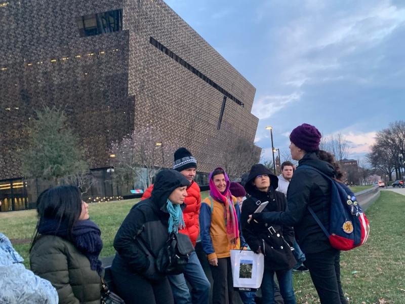 A women's history tour in Washington, DC.